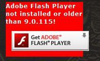 adobe flash message